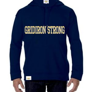 gridiron strong, training hoodie