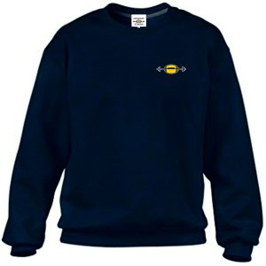 Property of Gridiron Strong Sweatshirt Navy super-soft sweatshirt Soft style unisex sweatshirt with printed design.